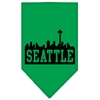 Mirage Pet Products Seattle Skyline Screen Print Bandana Emerald Green Large