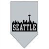 Mirage Pet Products Seattle Skyline Screen Print Bandana Grey Small