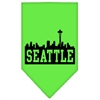 Mirage Pet Products Seattle Skyline Screen Print Bandana Lime Green Small