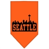 Mirage Pet Products Seattle Skyline Screen Print Bandana Orange Large