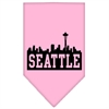 Mirage Pet Products Seattle Skyline Screen Print Bandana Light Pink Large