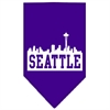 Mirage Pet Products Seattle Skyline Screen Print Bandana Purple Small