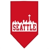 Mirage Pet Products Seattle Skyline Screen Print Bandana Red Small