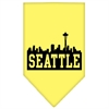 Mirage Pet Products Seattle Skyline Screen Print Bandana Yellow Large