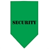Mirage Pet Products Security  Screen Print Bandana Emerald Green Large