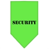 Mirage Pet Products Security  Screen Print Bandana Lime Green Small
