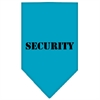 Mirage Pet Products Security  Screen Print Bandana Turquoise Large