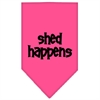 Mirage Pet Products Shed Happens  Screen Print Bandana Bright Pink Small