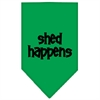 Mirage Pet Products Shed Happens  Screen Print Bandana Emerald Green Small