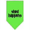 Mirage Pet Products Shed Happens  Screen Print Bandana Lime Green Large