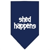 Mirage Pet Products Shed Happens  Screen Print Bandana Navy Blue Small