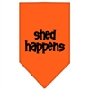 Mirage Pet Products Shed Happens  Screen Print Bandana Orange Large