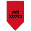 Mirage Pet Products Shed Happens  Screen Print Bandana Red Large