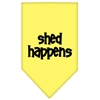 Mirage Pet Products Shed Happens  Screen Print Bandana Yellow Small