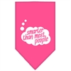 Mirage Pet Products Smarter then most People Screen Print Bandana Bright Pink Large