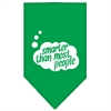 Mirage Pet Products Smarter then most People Screen Print Bandana Emerald Green Large