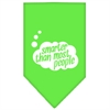 Mirage Pet Products Smarter then most People Screen Print Bandana Lime Green Large