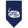Mirage Pet Products Smarter then most People Screen Print Bandana Navy Blue large