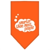 Mirage Pet Products Smarter then most People Screen Print Bandana Orange Large