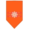 Mirage Pet Products Pink Snowflake Swirls Screen Print Bandana Orange Small