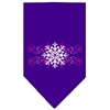 Mirage Pet Products Pink Snowflake Swirls Screen Print Bandana Purple Large
