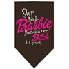 Mirage Pet Products New Bitch in Town Screen Print Bandana Brown Large