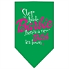 Mirage Pet Products New Bitch in Town Screen Print Bandana Emerald Green Large