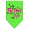 Mirage Pet Products New Bitch in Town Screen Print Bandana Lime Green Large