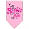 Mirage Pet Products New Bitch in Town Screen Print Bandana Light Pink Large