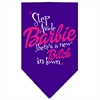 Mirage Pet Products New Bitch in Town Screen Print Bandana Purple Large