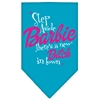 Mirage Pet Products New Bitch in Town Screen Print Bandana Turquoise Small