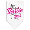 Mirage Pet Products New Bitch in Town Screen Print Bandana White Large