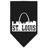 Mirage Pet Products St Louis Skyline Screen Print Bandana Black Small