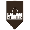 Mirage Pet Products St Louis Skyline Screen Print Bandana Cocoa Small