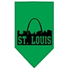 Mirage Pet Products St Louis Skyline Screen Print Bandana Emerald Green Small
