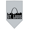 Mirage Pet Products St Louis Skyline Screen Print Bandana Grey Large