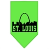 Mirage Pet Products St Louis Skyline Screen Print Bandana Lime Green Large