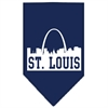 Mirage Pet Products St Louis Skyline Screen Print Bandana Navy Blue large
