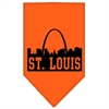 Mirage Pet Products St Louis Skyline Screen Print Bandana Orange Small