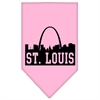 Mirage Pet Products St Louis Skyline Screen Print Bandana Light Pink Large