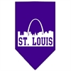 Mirage Pet Products St Louis Skyline Screen Print Bandana Purple Large