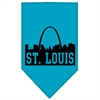 Mirage Pet Products St Louis Skyline Screen Print Bandana Turquoise Large