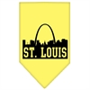 Mirage Pet Products St Louis Skyline Screen Print Bandana Yellow Large