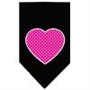 Mirage Pet Products Pink Swiss Dot Heart Screen Print Bandana Black Small
