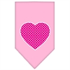 Mirage Pet Products Pink Swiss Dot Heart Screen Print Bandana Light Pink Small