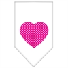 Mirage Pet Products Pink Swiss Dot Heart Screen Print Bandana White Small