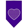 Mirage Pet Products Purple Swiss Dot Heart Screen Print Bandana Purple Large