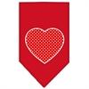 Mirage Pet Products Red Swiss Dot Heart Screen Print Bandana Red Large