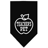 Mirage Pet Products Teachers Pet Screen Print Bandana Black Large
