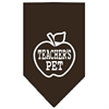 Mirage Pet Products Teachers Pet Screen Print Bandana Cocoa Small